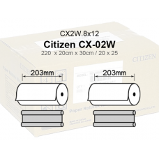 Citizen CX-02W.8x12Met Papel  20x30 e 20x25 Metalizado