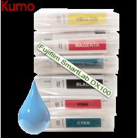 Tinteiro compatível com Fujifilm SmartLab DX100 Cyan 200ml