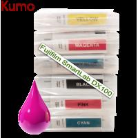 Tinteiro compatível com Fujifilm SmartLab DX100 Pink 200ml