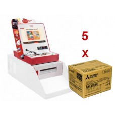 Mitsubishi Smart Kiosk CP-D80DW s/base *OFERTA 5 X cx de papel CK-D868